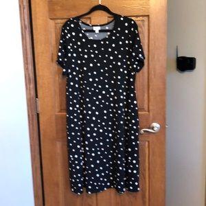 Lularoe Black & White Polka Dot Jessie w/Pockets